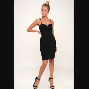 Lulu's Gianna Black Sleeveless Bodycon Dress